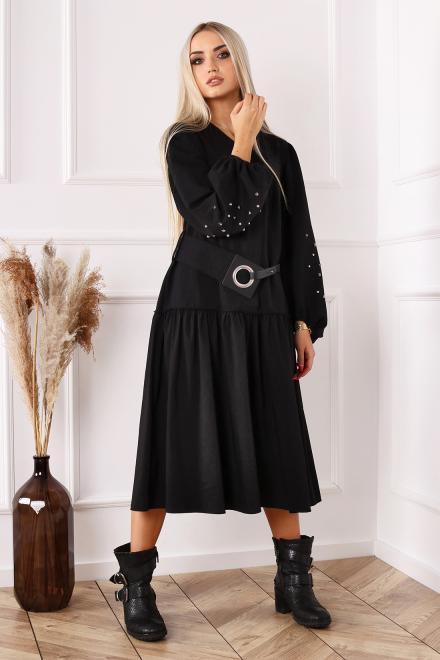 Alekssandra  Sukienka AFRA Платье Черный оптом
