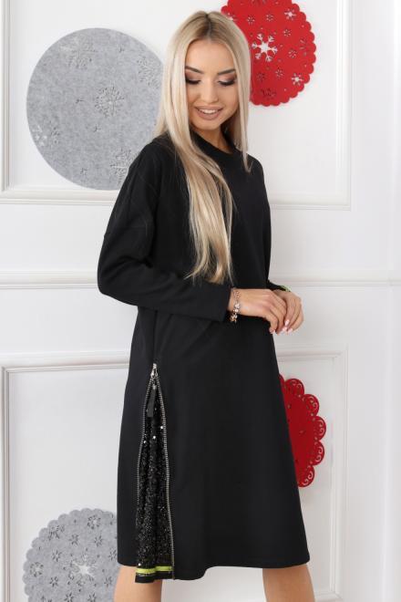 Alekssandra  Sukienka KAMA Платье Черный оптом