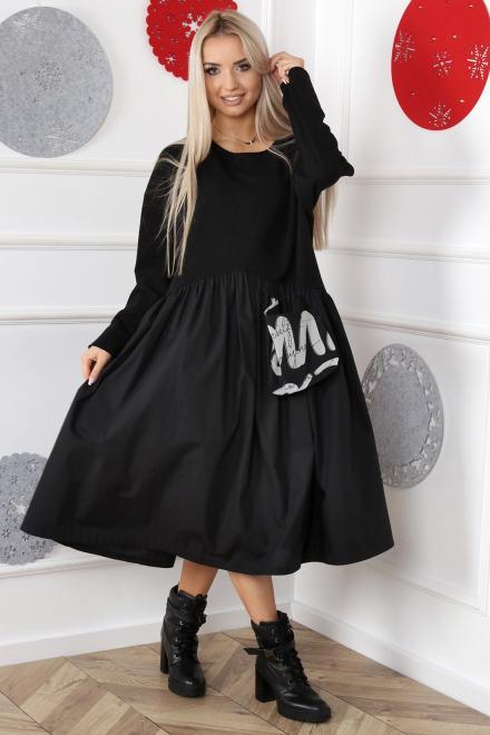 Alekssandra  Sukienka DOLLY Платье Черный оптом