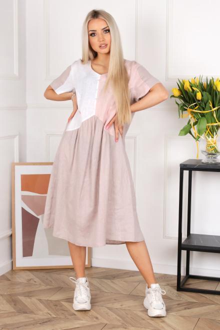 Alekssandra  Sukienka SEMI  Платье Цветной оптом