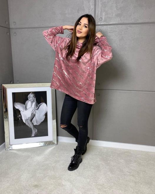 Ingrosso  Welurowa bluza ROMA Блуза Пыльная роза оптом