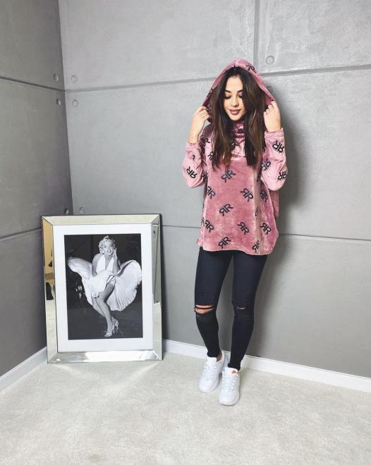Ingrosso  Welurowa bluza RR Блуза Розовый оптом