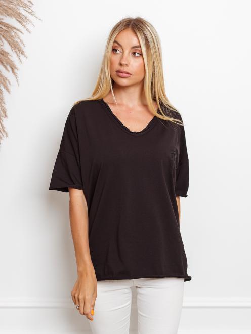 Ingrosso  T-shirt big size z haftem Майка Черный оптом