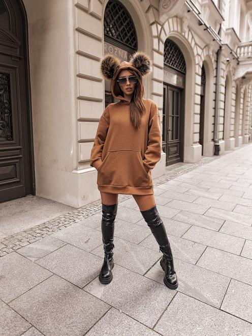 Ingrosso  Bluza pompon Блуза карамельный оптом