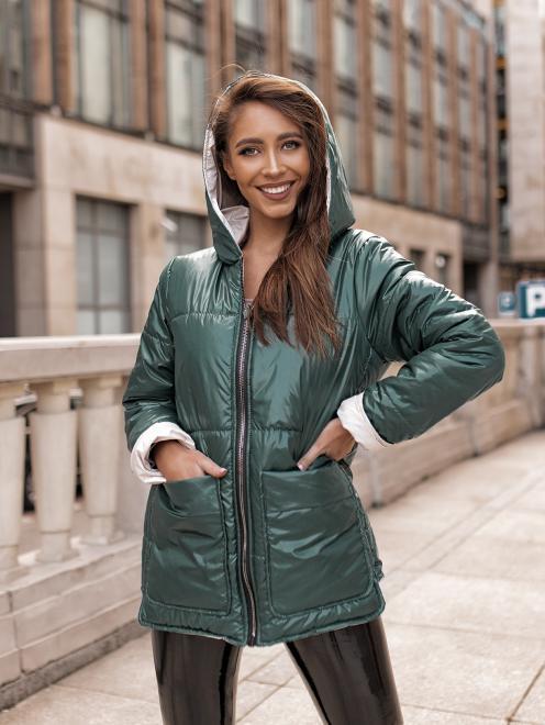 Ingrosso  Куртка двусторонняя INGROSSO -butelkowa ziel Куртка не указан оптом
