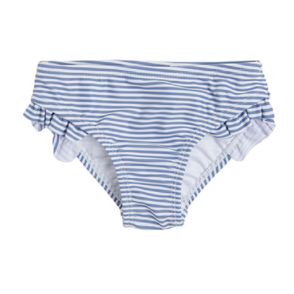 SM  Majtki kąpielowe dziewczęce, biało-niebieskie, paski трусы мульти оптом