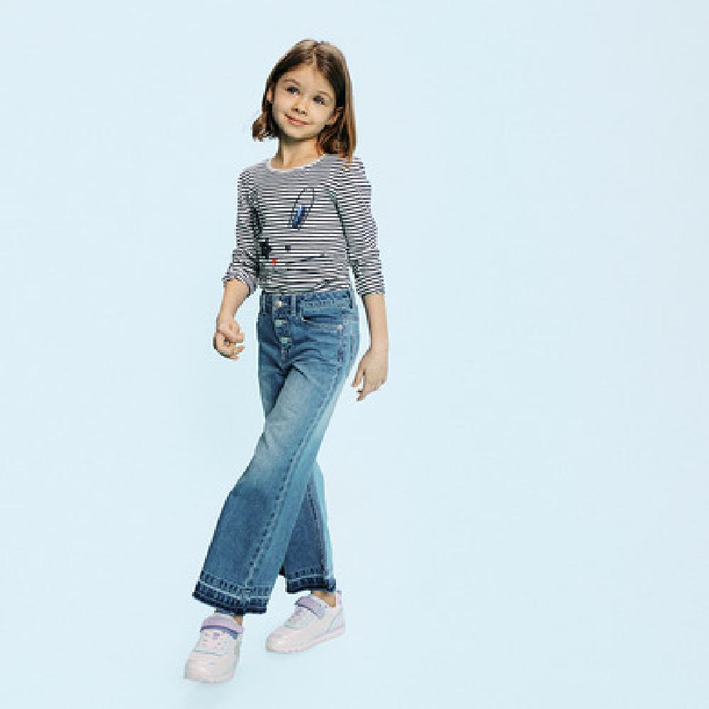 SM  Spodnie jeansowe dziewczęce, culotte, denim Брюки джинс оптом