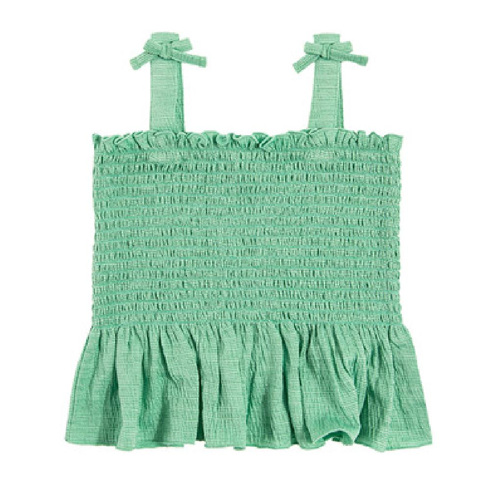 SM  Bluzka dziewczęca na ramiączka, zielona Блузка зеленый оптом